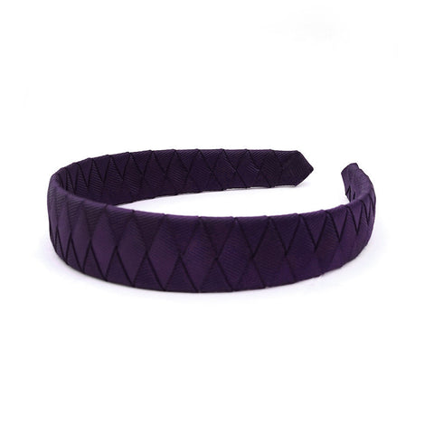 Large Shadow Purple Braided Alice Band
