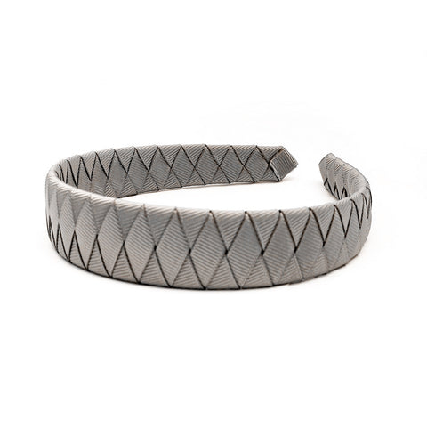 Large Silver Braided Alice Band