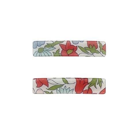 Small Liberty Poppy & Daisy Barette