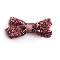 Small Antique Mauve Glitter Hair Clip