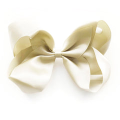 Large Antique White Satin Hair Clip