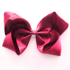 Large Camellia Rose Satin Hair Clip