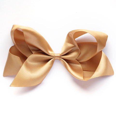 Large Pale Gold Satin Hair Clip