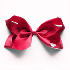 Large Ruby Satin Hair Clip