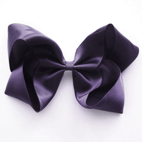 Large Shadow Purple Satin Hair Clip