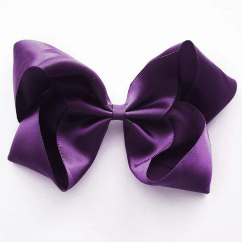 Large Regal Purple Satin Hair Clip