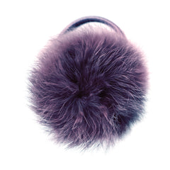 Large Shadow Purple Pom Pom Hair Elastic