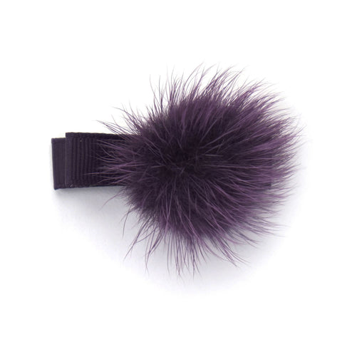 Shadow Purple Pom Pom Hair Clip