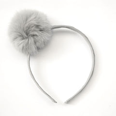Large Silver Pom Pom Alice Band