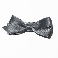 Small Charcoal Satin Hair Clip