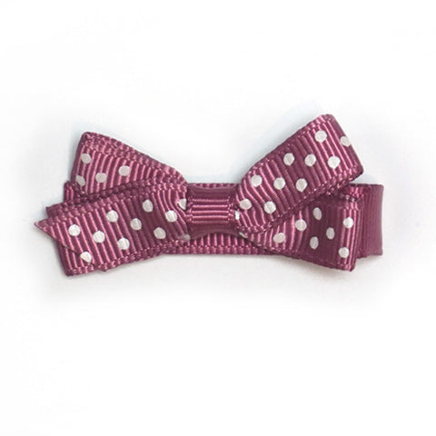 Small Victorial Rose Polka Dot Hair Clip