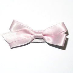 Small Icy Pink Satin Hair Clip
