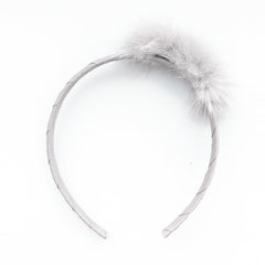 Small Off White Pom Pom Alice Band