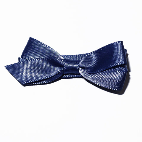 Small Peacoat Satin Hair Clip