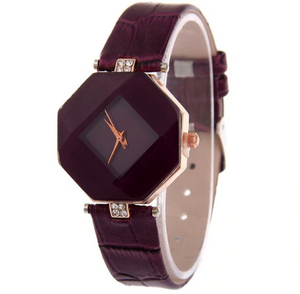 Womens Geometric Leather Band Watches - Womens Watch