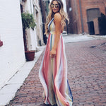 Lollipop Twist Maxi Dress