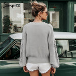 'Simplee' Hollowed Out Sweater - TheMacLyfAus Leggings