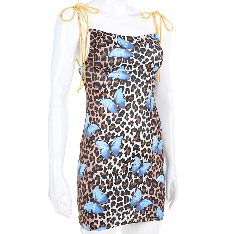 Exotic Butterfly Leopard Print Dress - TheMacLyfAus Leggings