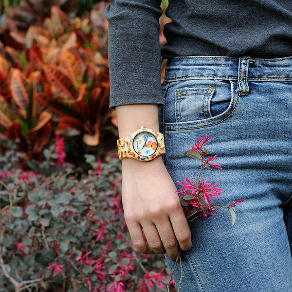 Real Bamboo Luxury Watch - TheMacLyfAus Leggings