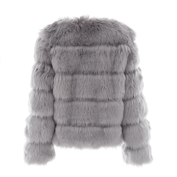 Vintage Faux Fur Coat - Jacket Tops Women
