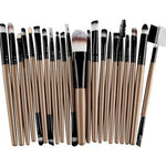 22Pc Makeup Brush Set - Tan - Beauty Eyes Face