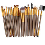 22Pc Makeup Brush Set - Gold - Beauty Eyes Face