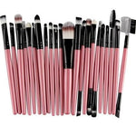 22Pc Makeup Brush Set - Pink - Beauty Eyes Face