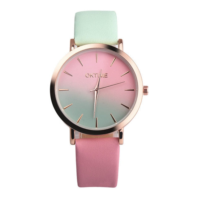 2019 Summer Rainbow Watches - Watermelon (Gold Rim) - Womens Watch
