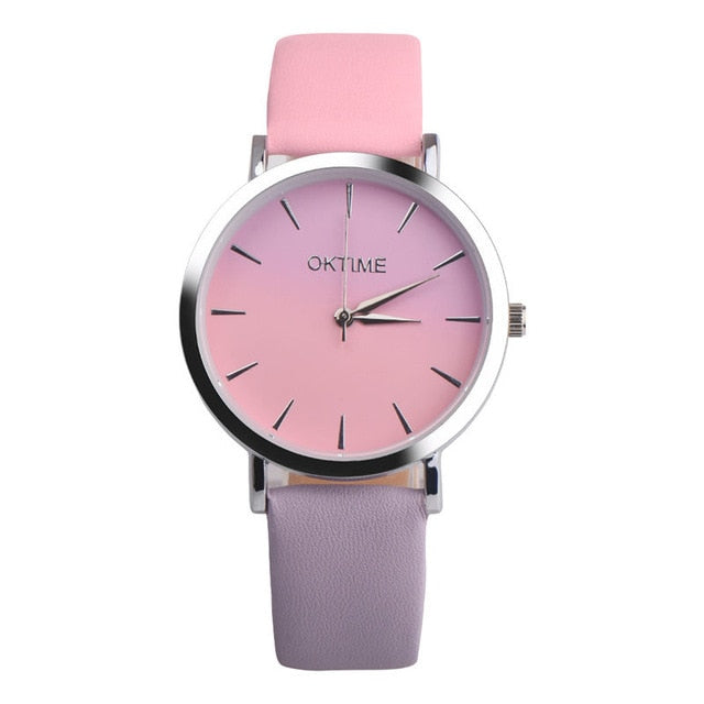 2019 Summer Rainbow Watches - Evening Pink (Silver Rim) - Womens Watch