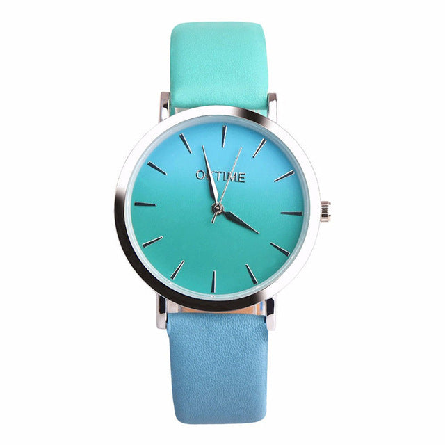 2019 Summer Rainbow Watches - Teal (Silver Rim) - Womens Watch