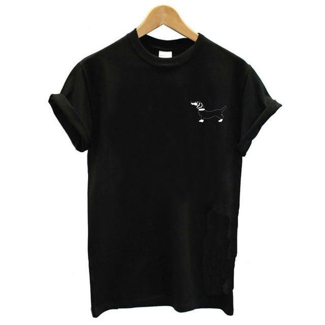 Simple Black Doggo Top - Doggo / Xs - Tees Tops