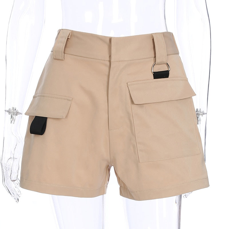 High Waist Tanned Summer Shorts