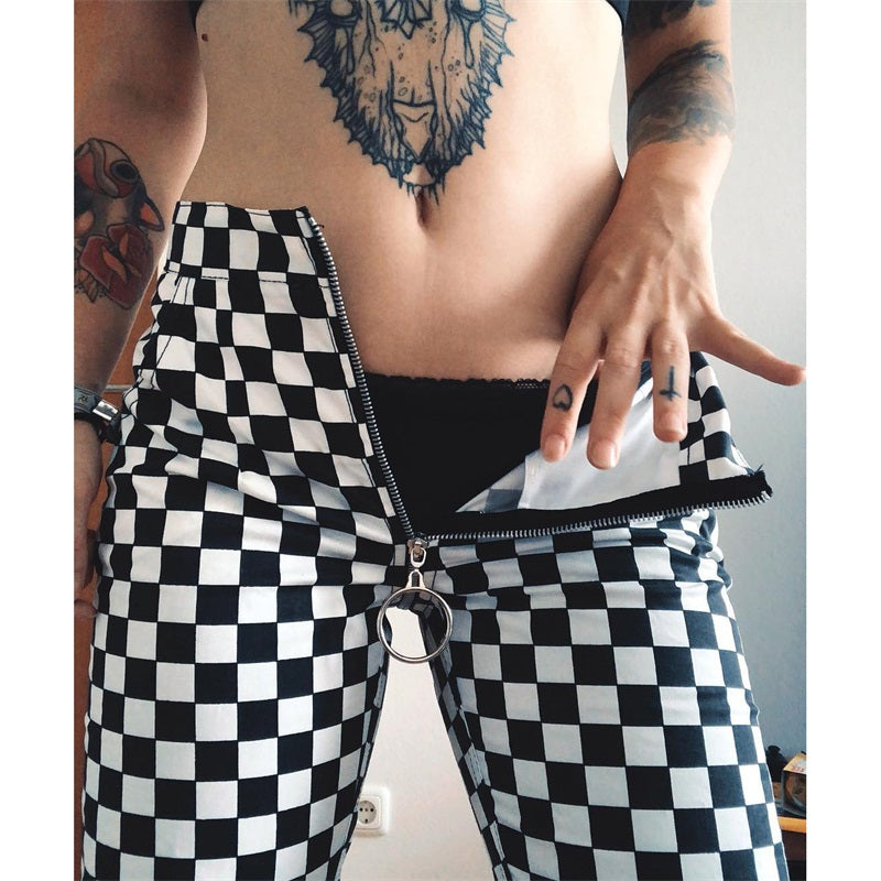 Instahot Design Checkered Pants - TheMacLyfAus Leggings