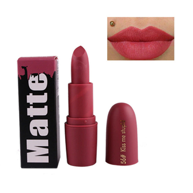 Miss Rose Nude Matte Lipsticks - Kiss Me Stupid - Beauty Lips