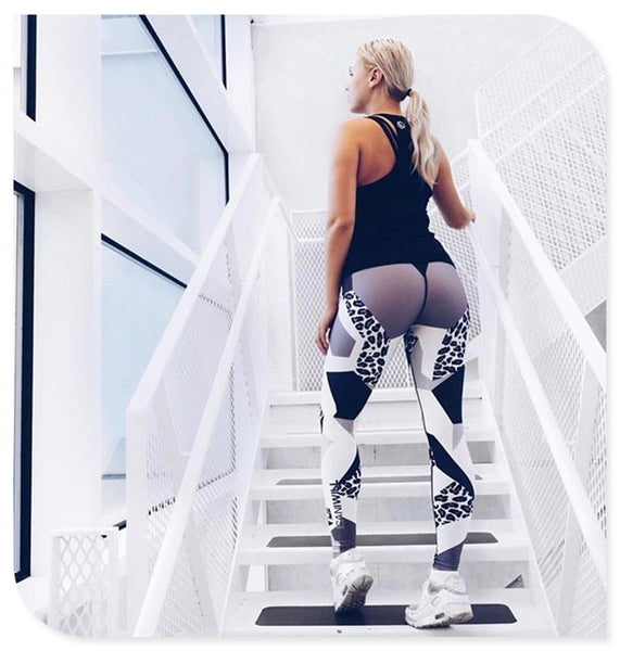 Diamond Leopard Print Leggings - TheMacLyfAus Leggings