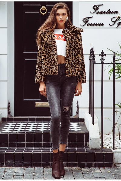 Leopard Print Coat - TheMacLyfAus Leggings