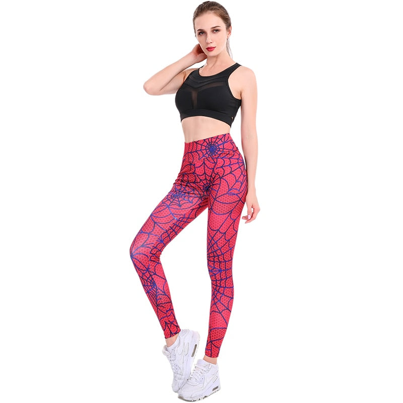 Red Spider Web Leggings