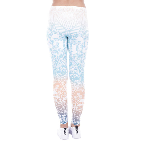 One Size Fits All Mandala Gym Leggings - Bottoms Leggings Women Womens