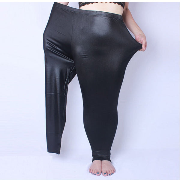 Sexy Fake Leather Leggings - Plus Size - TheMacLyfAus Leggings