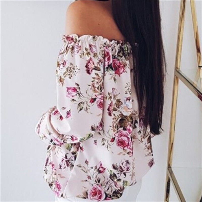 Off Shoulder Floral Top - TheMacLyfAus Leggings
