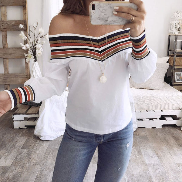 Off Shoulder Long Sleeve Top - TheMacLyfAus Leggings