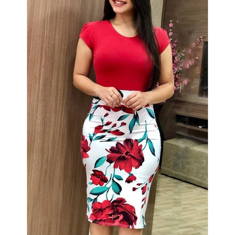 Cute 2019 Summer Pencil Dresses - Rose / L - Bottoms Dress Dresses Skirts Women