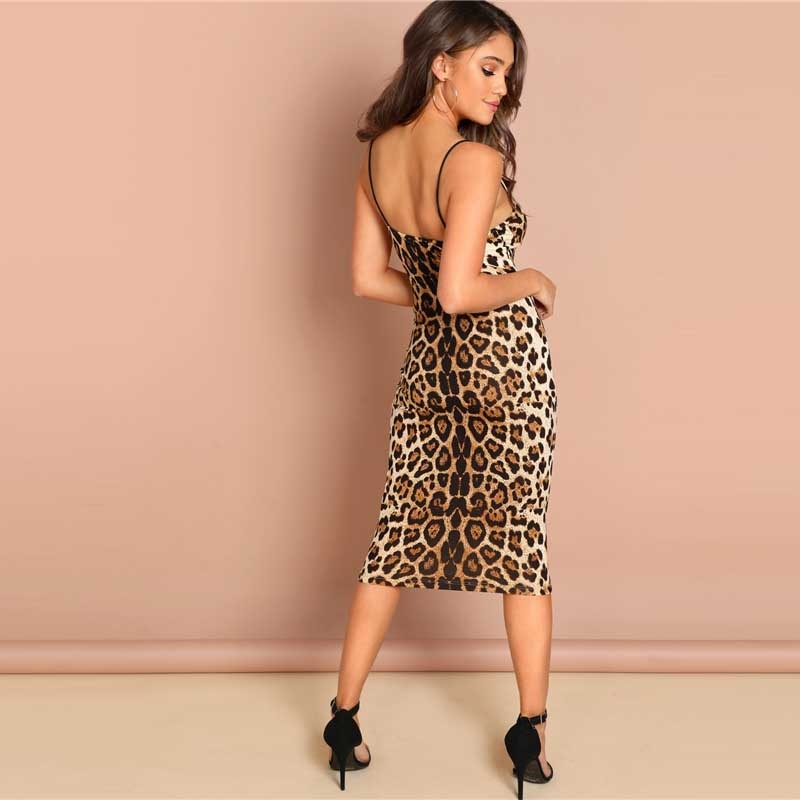 Sexy Backless Leopard Dress - TheMacLyfAus Leggings