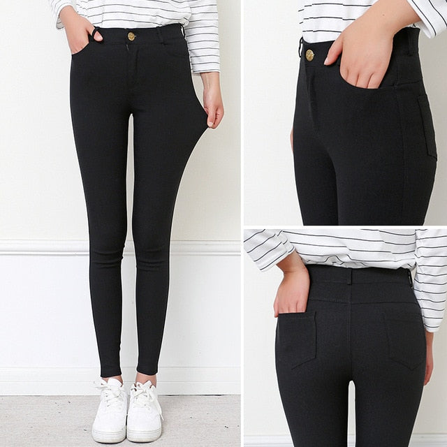 High Waist Office Girl Pants - TheMacLyfAus Leggings