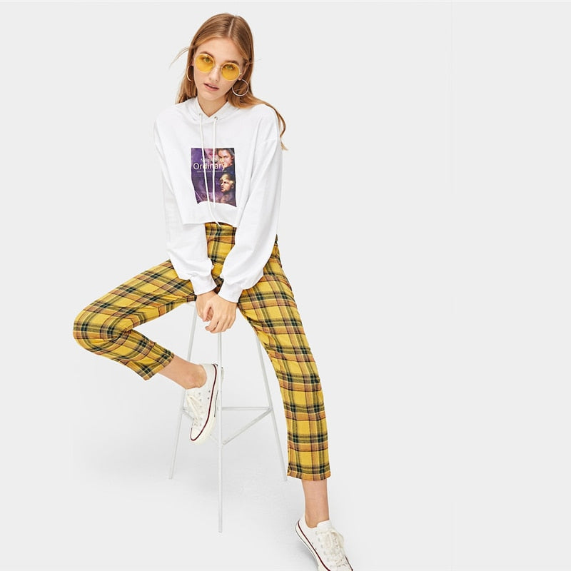 Plaid Carrot Pants - TheMacLyfAus Leggings