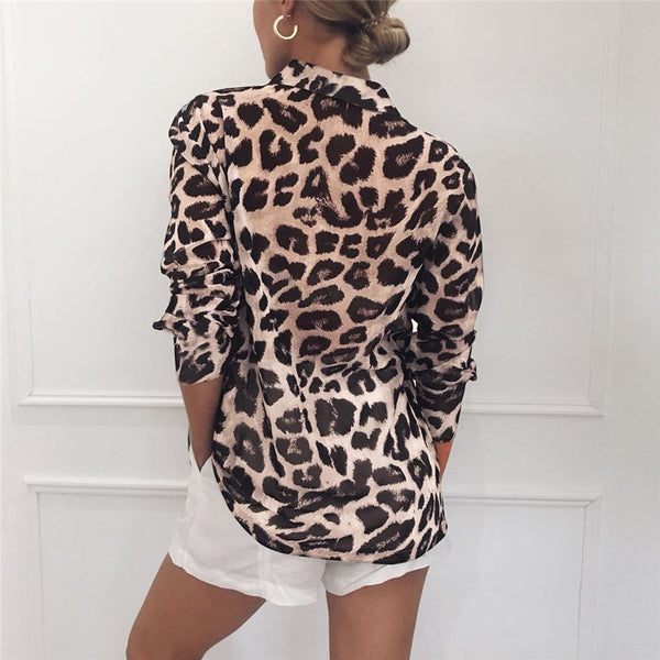 Long Sleeve Leopard Print Top - TheMacLyfAus Leggings