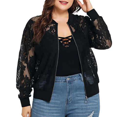 Black Lace Jacket - Plus Size - TheMacLyfAus Leggings