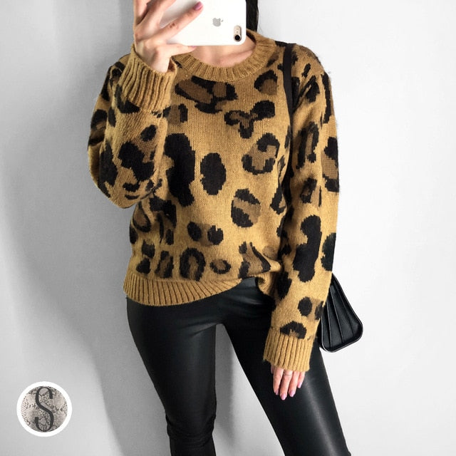 Leopard Cashmere Sweater - TheMacLyfAus Leggings