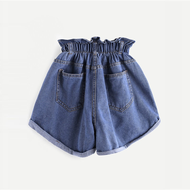 ROMWE Denim Shorts - TheMacLyfAus Leggings