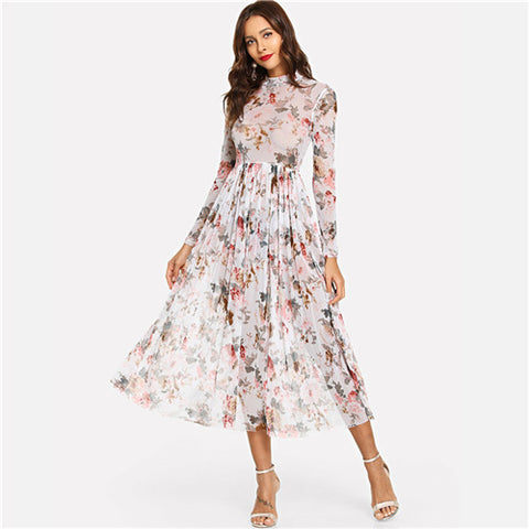 Boho Fit & Flare Floral Dress - TheMacLyfAus Leggings